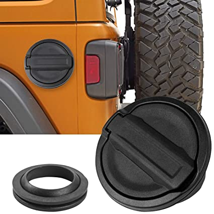 img buy Gas Cap Cover Fuel Tank Cap Cover Replacement for 2018 Jeep Wrangler JL Sport Rubicon Sahara Unlimited (JL)