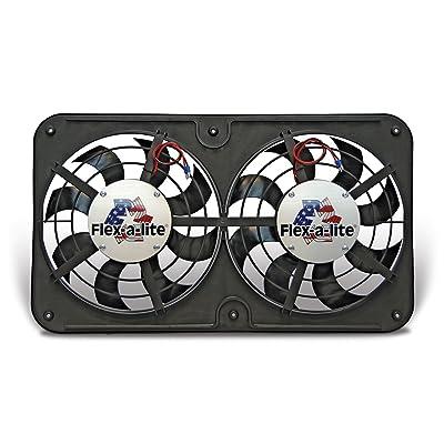 Flex-a-lite 420 Lo-Profile S-Blade Dual Electric Puller Fan: Automotive [5Bkhe0417052]