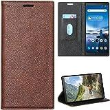 Zaoma Diary Type Pu Leather Flip Case Cover for Lenovo Tab V7 Model Number: ZA4L0020IN / ZA4L0052IN - (Executive Brown)