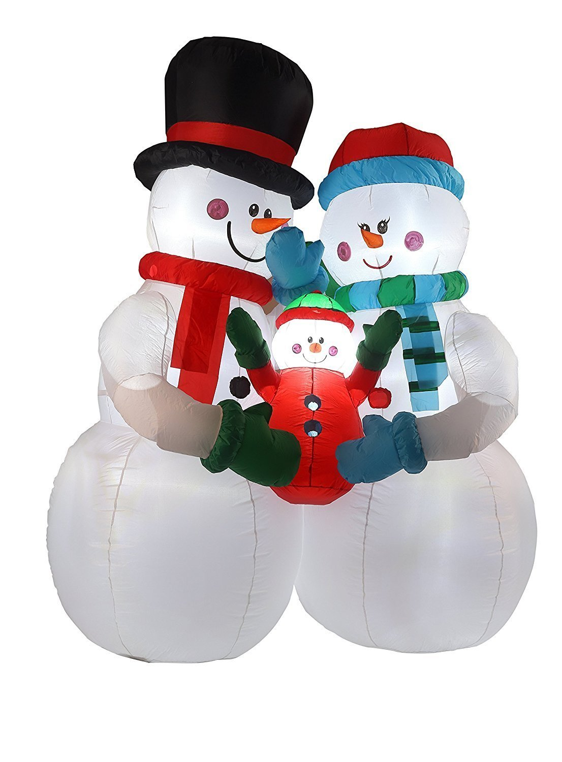 Amazon.com: 8FT Inflatable Snowman Family Indoor Outdoor Christmas ...
