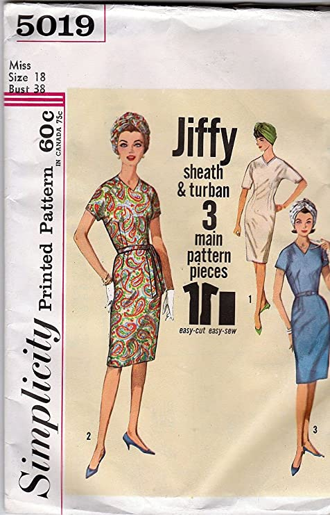 Amazon.com   Simplicity Vintage Pattern 5019 200990eecdf