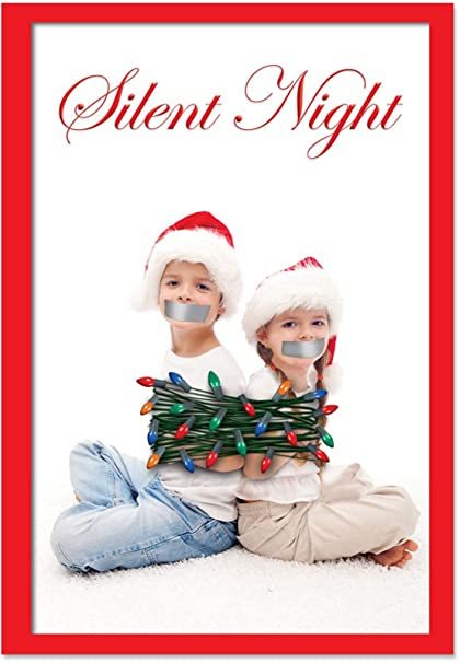 Amazon b5961 box set of 12 box of silent night christmas funny b5961 box set of 12 box of silent night christmas funny christmas greeting cards with m4hsunfo