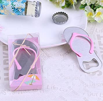 3652dee7806c6 Fusicas Creative Beach Slipper Shape Design Metal Bottle Opener Beer Opener  Wedding Gifts  Amazon.co.uk  Sports   Outdoors