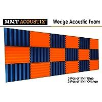 MMT Acoustix® Wedge 1x1, (Orange-9 Blue -9)
