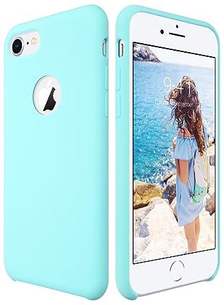 Amazon.com: ULAK - Funda para iPhone 8, de goma líquida y ...