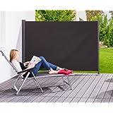 Seiten-Markise Wind-Schutz Sichtschutz Sonnen-Schutz 160 x 300 cm Anthrazit