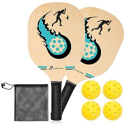 Amazon.com : Coolrunner Beginner Pickleball Paddle Set ...