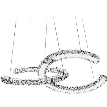 MEEROSEE Modern Crystal Chandelier Lighting Ceiling Light