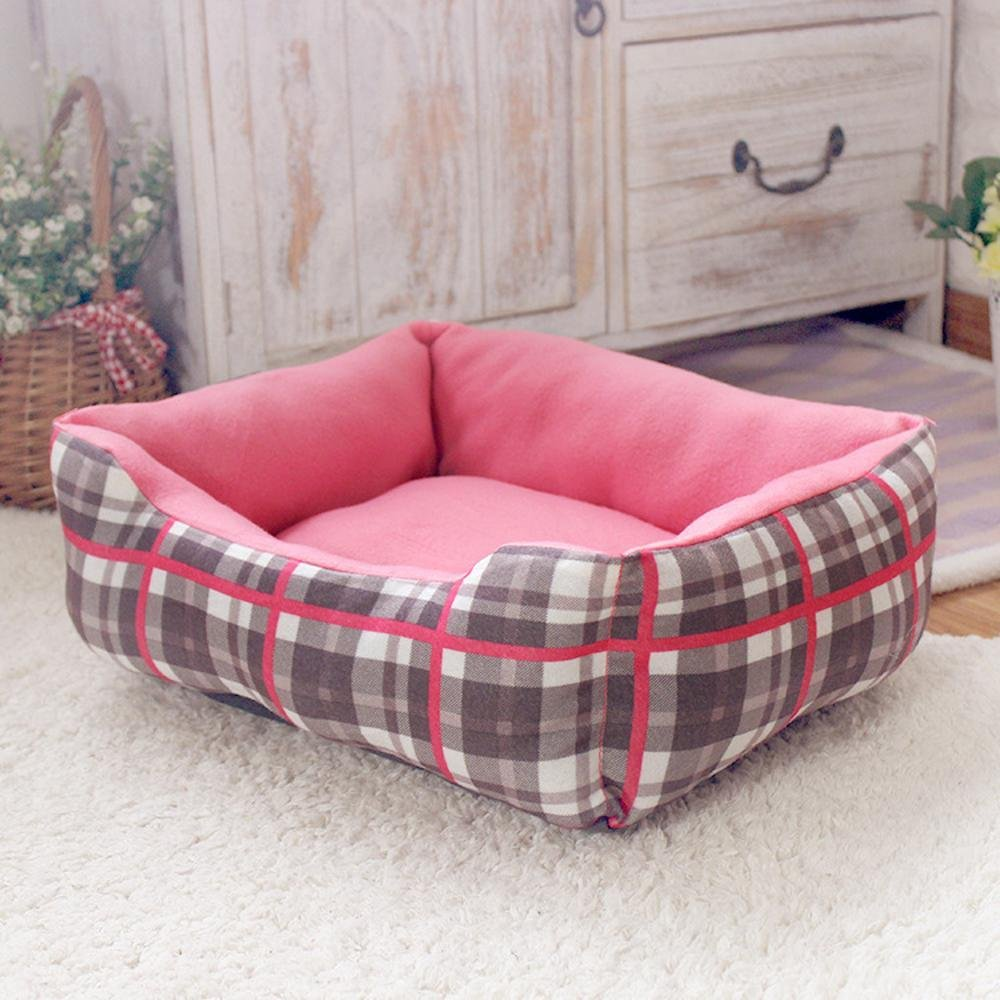 C Weiwei Dog Bed Cotton Small Square pet Nest Dog Mat, 47  38  14cm