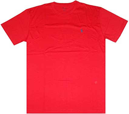 3cae9ad7 Polo Ralph Lauren Men Classic Fit Crew Neck Pony Logo T-shirt (X-Large,  Red) | Amazon.com
