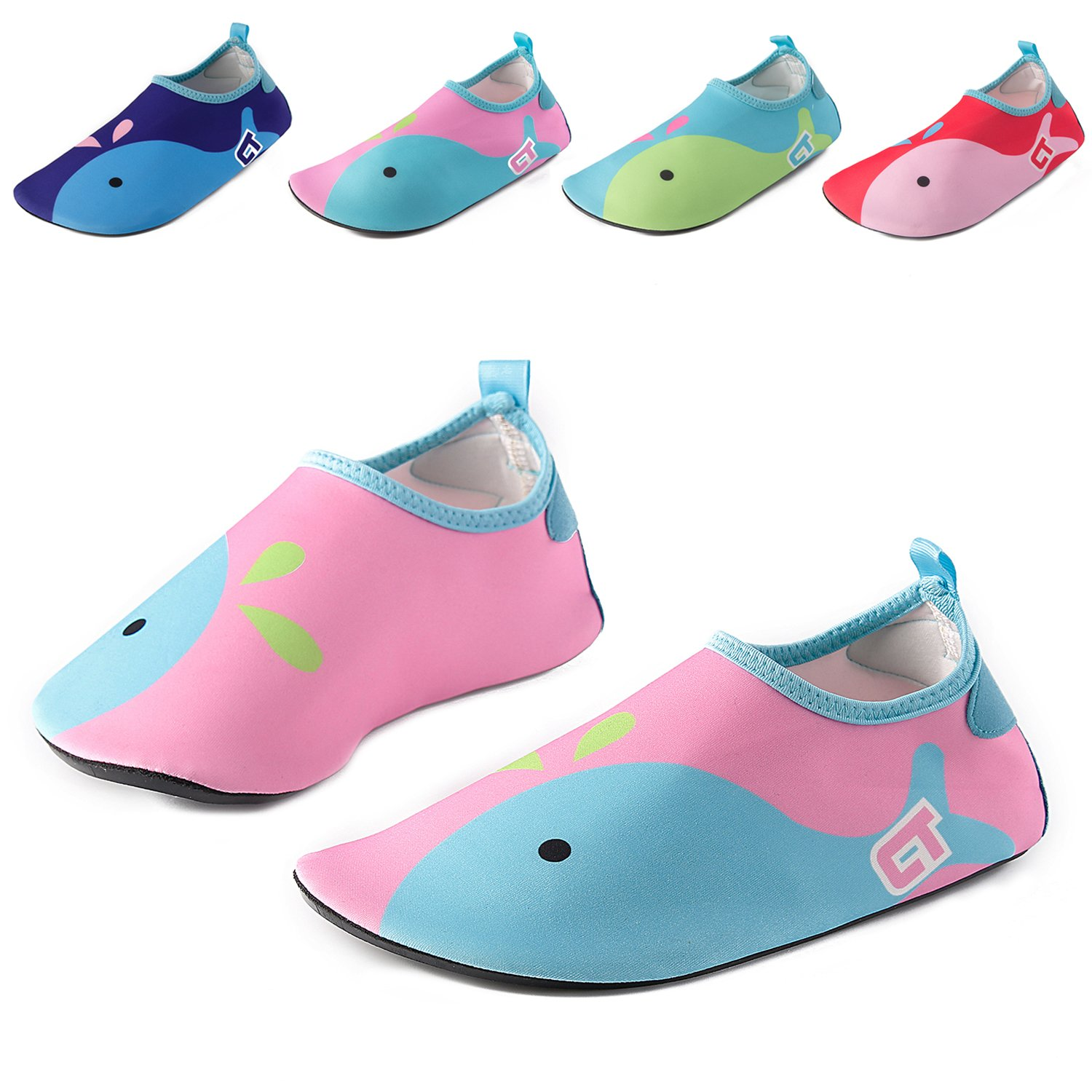 1b1a3dfa9b6b9 Vivay Kids Water Shoes Girls Boys Toddler Quick Dry Anti Slip Aqua Socks  for Beach Outdoor Sports