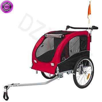 DzVeX 2 IN 1 Pet Dog Bike Trailer Bicycle Stroller Jogging W Suspension