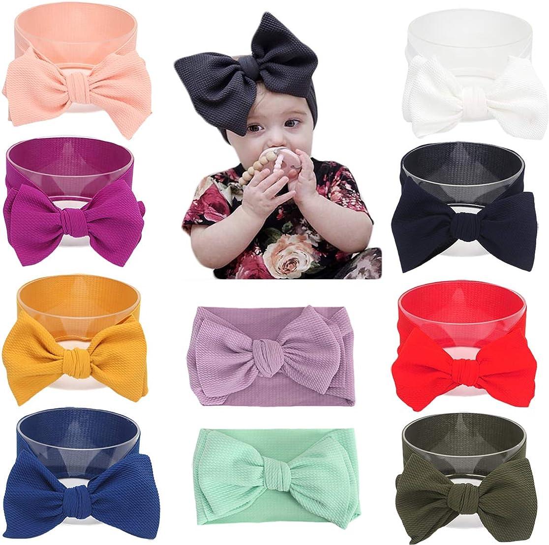 Baby Girl Diy Elastic Headbands Newborn Infant Toddler Big Bows Hairbands Children Soft Headwrap Hair Accessories