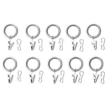 Ikea Syrlig Vorhang Ring Mit Clip Und Haken Vernickelt 10 Stück
