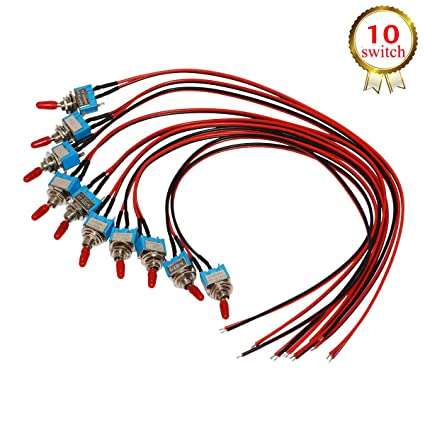Awe Inspiring Amazon Com Donjon Toggle Switch On Off Spst With Pre Soldered Wires Wiring Cloud Nuvitbieswglorg
