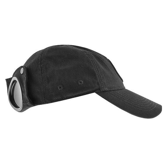 ad4fc769 CP Company Goggle Cap - Black: Amazon.co.uk: Clothing