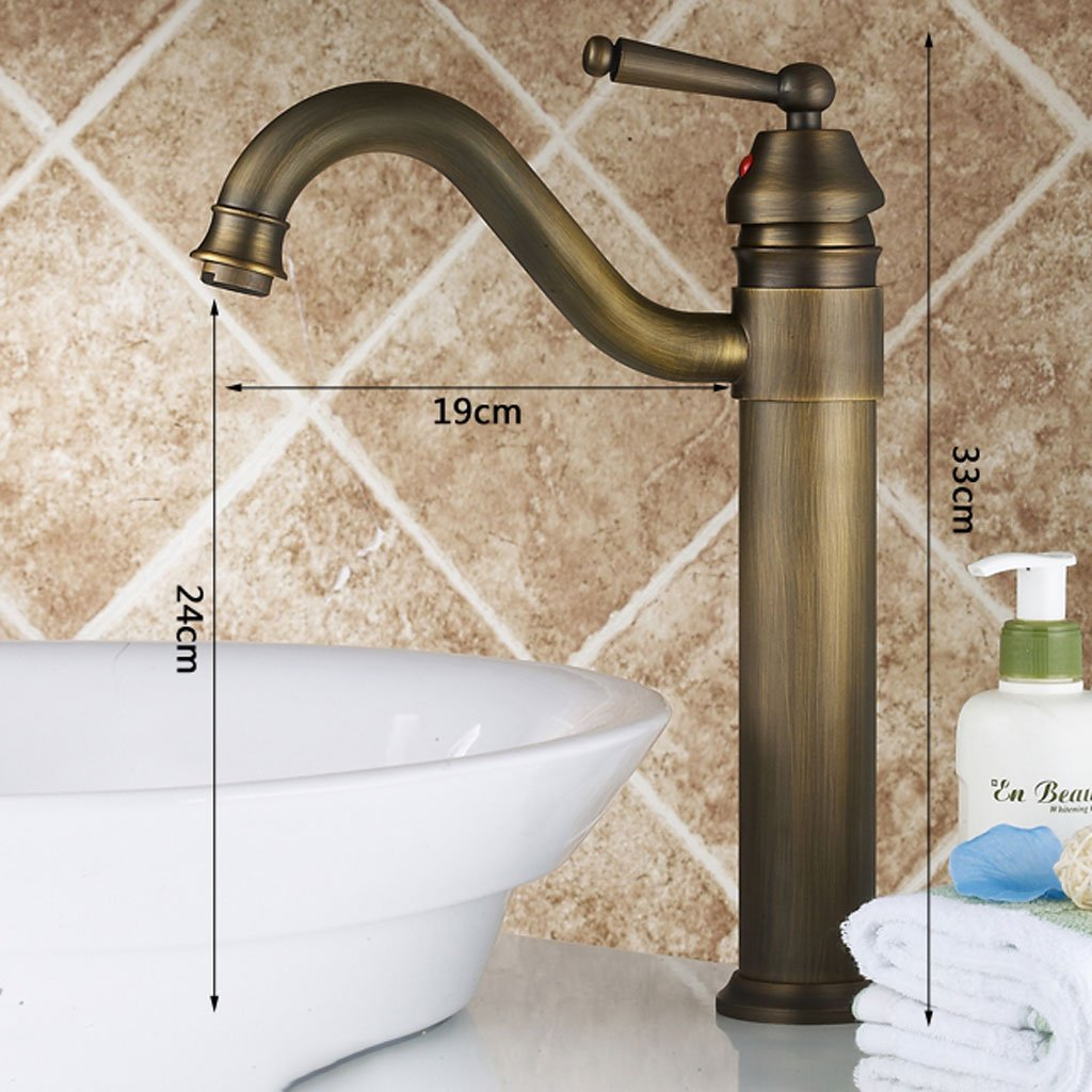 LY-Faucet Antique lavatory faucet All copper hot and cold European style bathroom faucets can be rotated