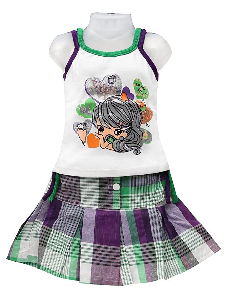 GOLDEN GIRL Little Girls Top And Skirt Dress