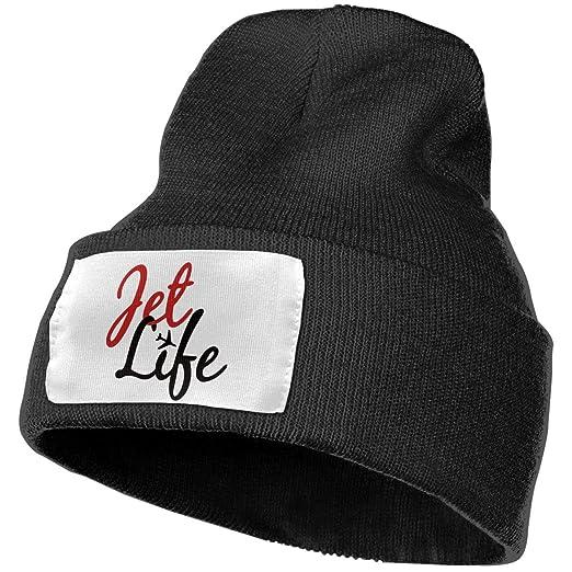 b562117a NGFF Women & Men Jet Life Winter Warm Beanie Hats Stretch Skull Ski ...