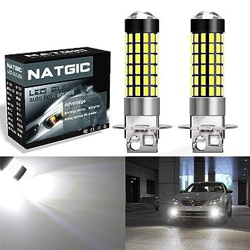 ngcat 2pcs 900 lúmenes 3014SMD 78-ex chipsets H3 LED Bombillas con lente proyector de
