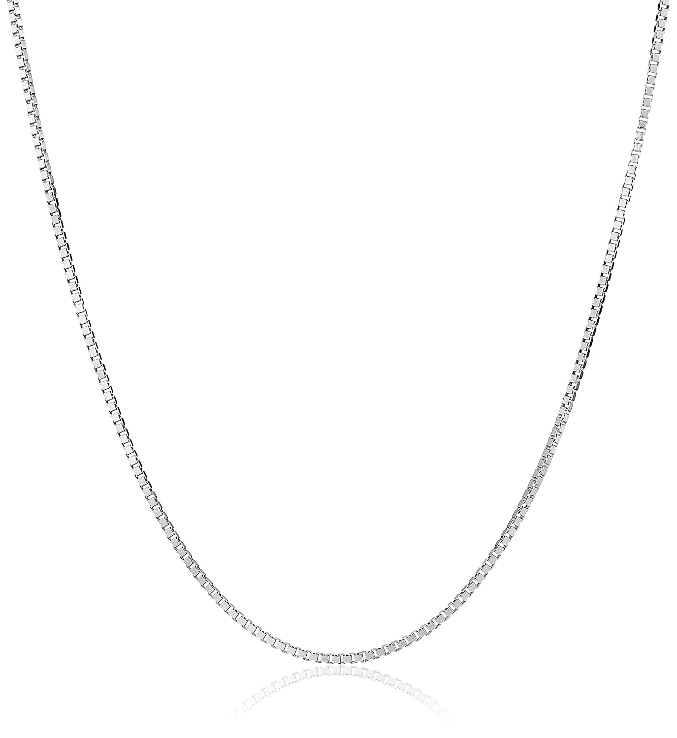 31018304e 14k Yellow Gold Solid Box Chain Necklace (0.8mm ), 18