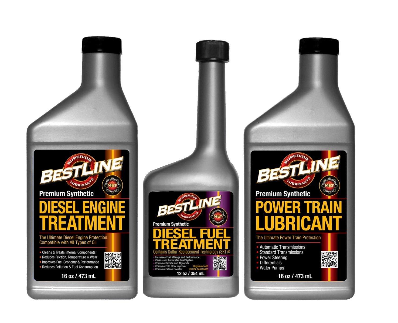 BestLine Diesel Engine, Fuel and Power Train Treatment 3 Pack BestLine Superior Lubricants