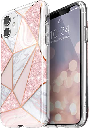 Amazon Com Vena Melange Marble Case Compatible With Apple Iphone 11 6 1 Inch Drop Proof Protection Stylish Glitter Sparkle Bumper Case Cover Rose Gold Electronics