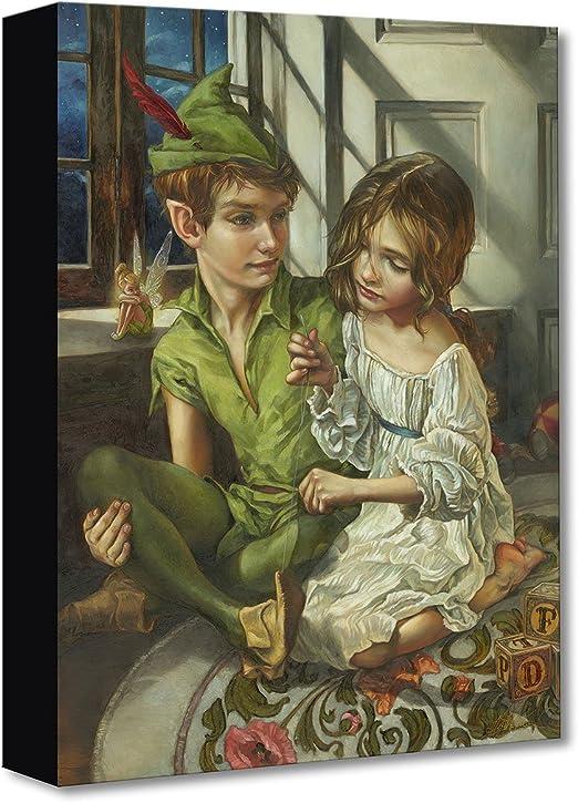 Peter Pan /& Wendy Print Poster Artwork Wall Art Watercolor Canvas Disney Print