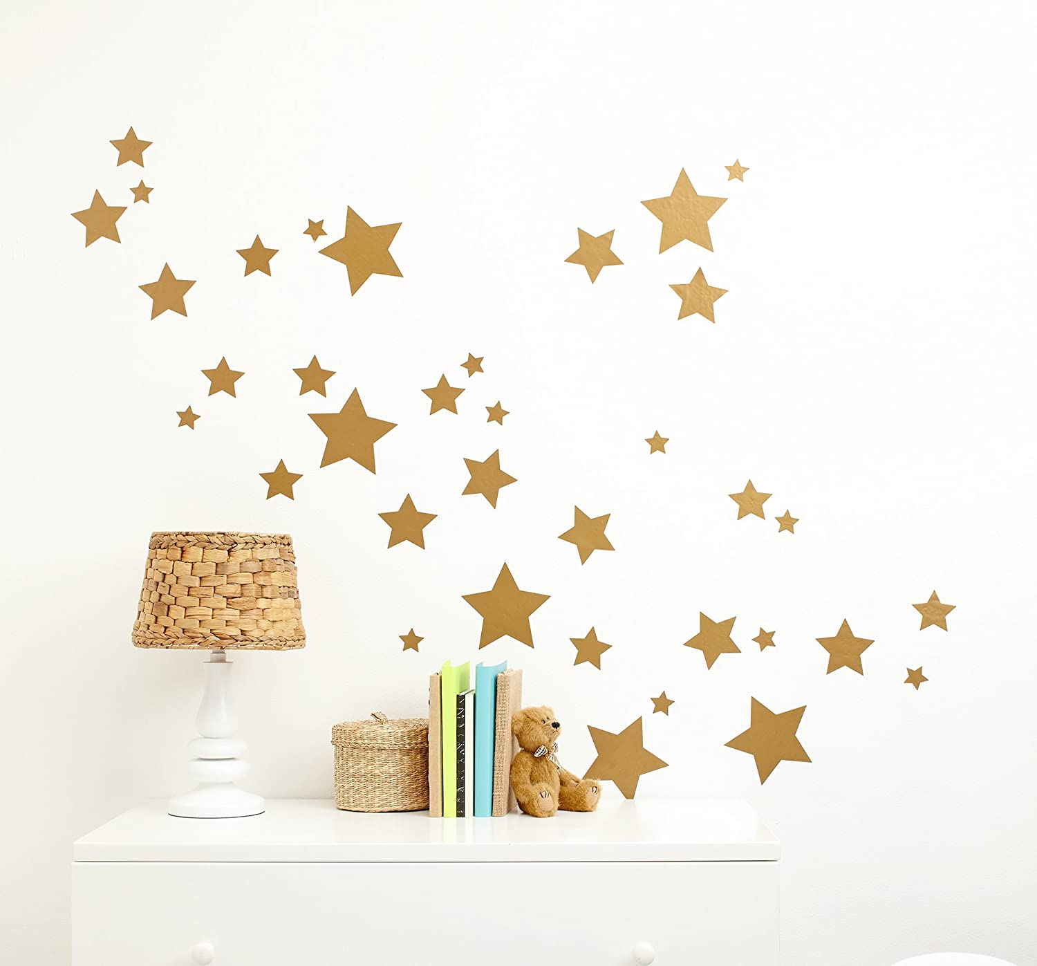 Little Love by NoJo Separates Collection Star Wall Decals, Metallic Gold Crown Craft Infant Products 6601100