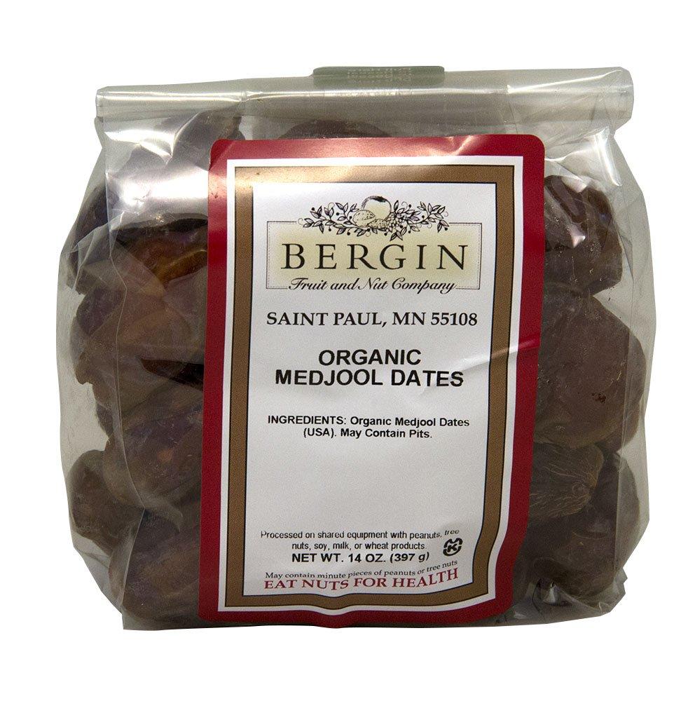 Bergin Nut Company Organic Medjool Dates, 14-Ounce Bags (Pack of 2)