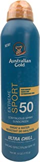 product image for Australian Gold Extreme Sport Continuous Spray Sunscreen SPF 50, 6 Ounce | Broad Spectrum | Sweat & Water Resistant | Non-Greasy | Oxybenzone Free | Cruelty Free, Sport - New