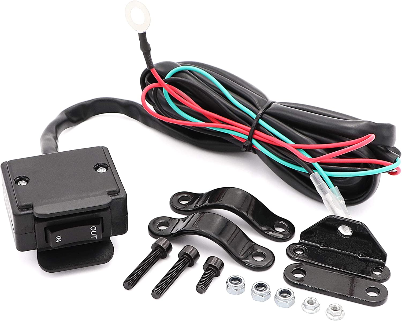 Amazon.com: 12V ATV Winch Rocker Switch with Handlebar Control line kit for  ATV/UTV: AutomotiveAmazon.com