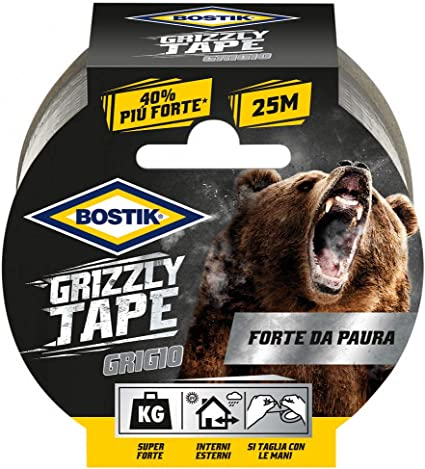Nastro telato Bostik Grizzly Tape nero 10mt x 50mm