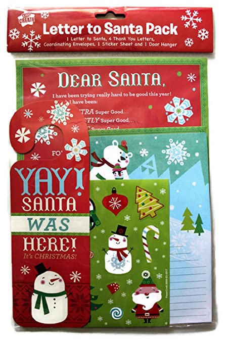 Amazon letter to santa kit new for christmas 2017 with amazon letter to santa kit new for christmas 2017 with envelopes stickers and door hanger 2 kits office products spiritdancerdesigns