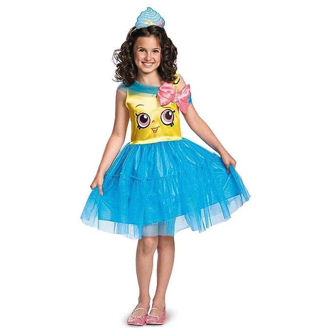 Genial Amazon.com: Girls Shopkins Classic Cupcake Queen Costume Size Small 4 6x:  Clothing