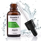 Vitamin C Serum for Face 20% organic Vit C + E + Hyaluronic Acid,1 fl oz by Aignis