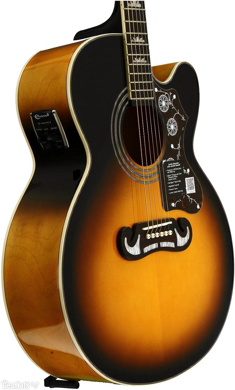 Epiphone EJ-200SCE - Guitarras electroacústicas, color negro: Amazon.es: Instrumentos musicales