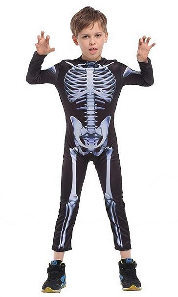 Licus - Disfraz de Esqueleto para niños Negro Negro (L: Amazon.es ...