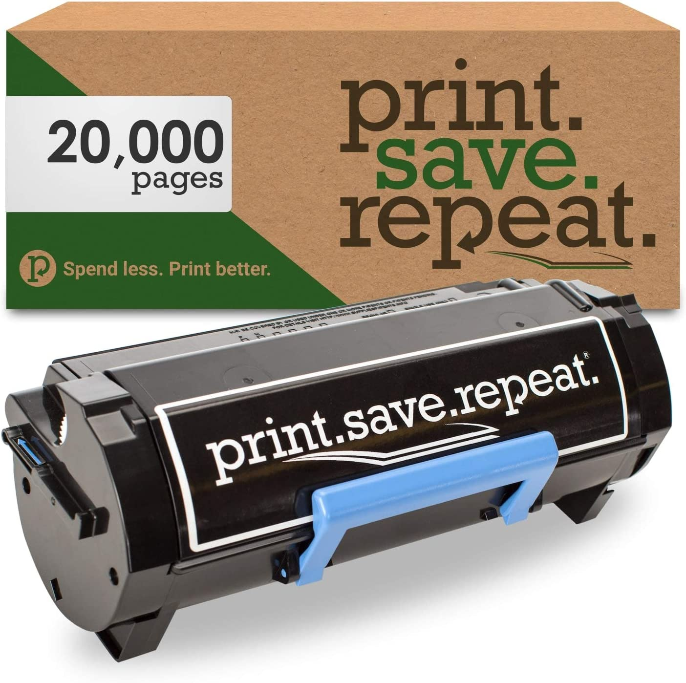 Print.Save.Repeat. Dell 9GG2G Extra High Yield Remanufactured Toner Cartridge for B3460 [20,000 Pages]