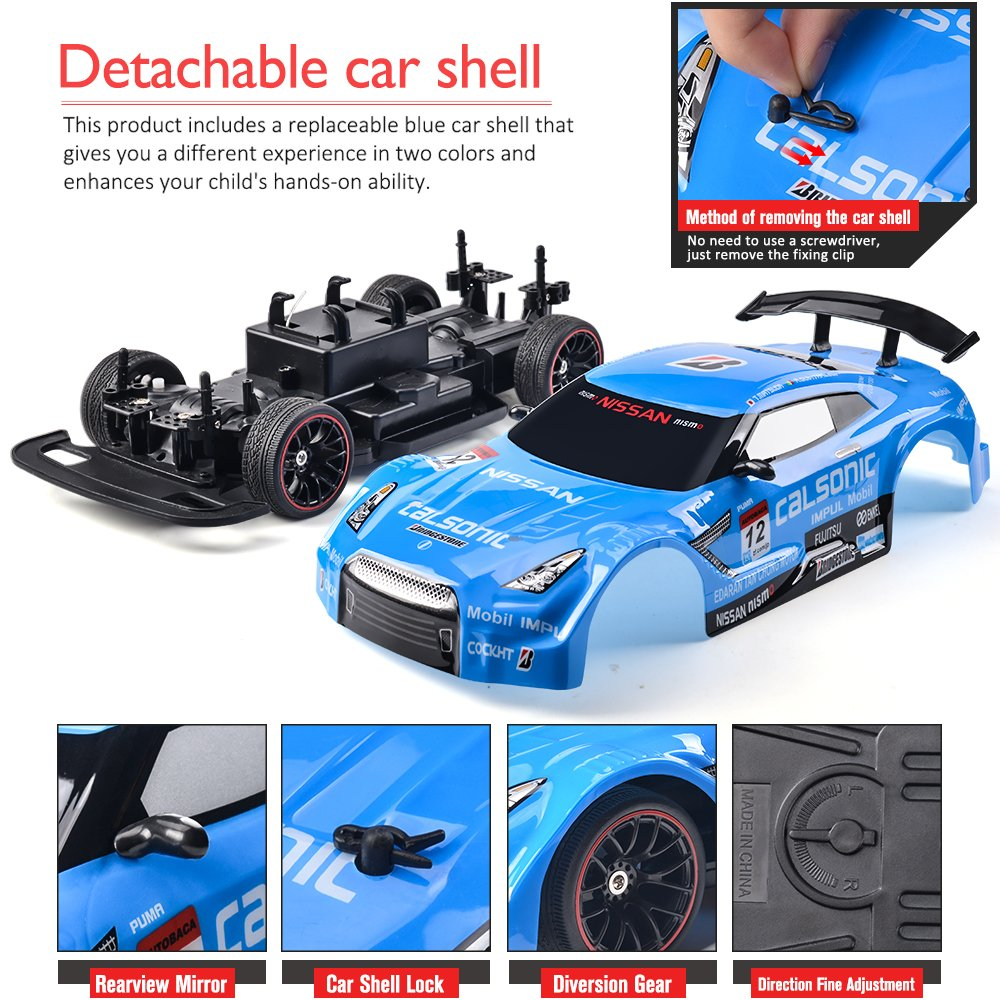 RC Car Electric Racing Drift 1 14 24Ghz Radio Remote 25Km H Controlled RTR Truck For Kids Adults Gifts 4WD High Speed Racer With 74V Battery And