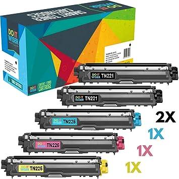 4 Pk TN225 TN221 TN-225 Toner For Brother HL-3140CW HL-3150CDN HL-3170CDW