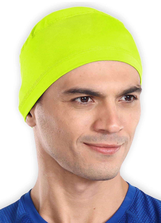Tough Headwear Sweat Wicking Helmet Liner/Cooling Skull Cap for Men - Helmet & Hard Hat Liner Accessory - UPF 50 Sun Protection