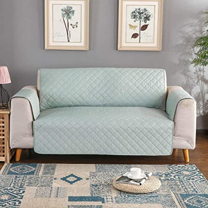 Sobibo Anti-Slip Couch Cover Sofa Slipcover for 3 Cushion with Elastic  Strap Furniture Protector, Seat Width Up to 66\