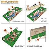 Bits and Pieces - Portable Jigsaw Roll Up Mat-Store Puzzles on Unique Puzzle Roll Felt Mat System - Fits Puzzles up to 3000 Pieces