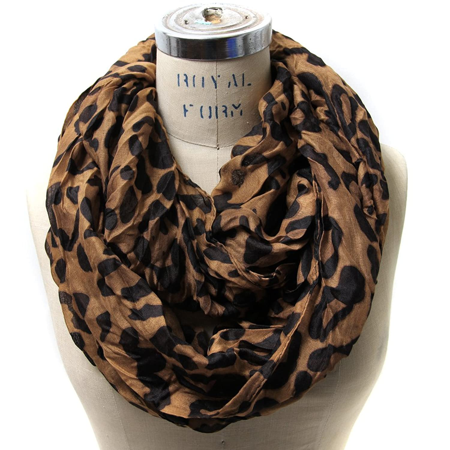 brown dark fashion winter original scarves products fall green chunky scarf infinity button