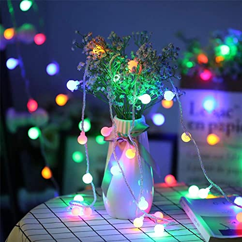 LED String Lights, by Hirosa, Plug in String Lights, 33ft 100 LED Colorful Globe lights, Perfect for Christmas Dorm Patio Garden Party Room Decorations, with 8 Lighting Modes, Extendable