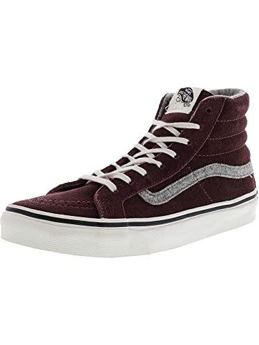 49ad080f2e Vans Sk8 Hi Slim Womens 5   Mens 3.5 Vintage Suede Red Mahogany  Amazon.ca   Shoes   Handbags