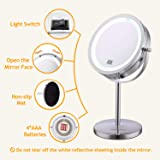 "Lighted Makeup Mirror - 7"" LED Vanity Mirror 10X"
