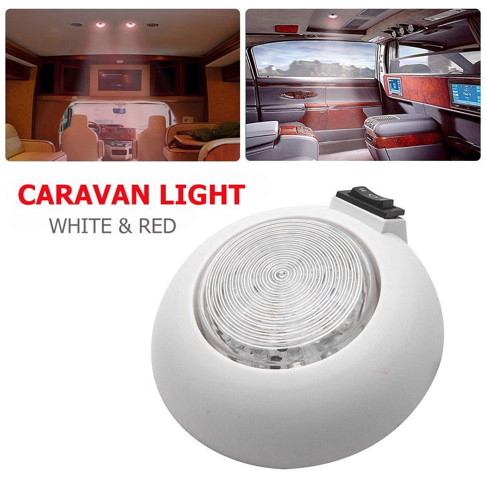 /Maso 12/V Int/érieur LED plafond spot de cabine pour caravane Camper camping-car Blanc et Rouge Camper Light/