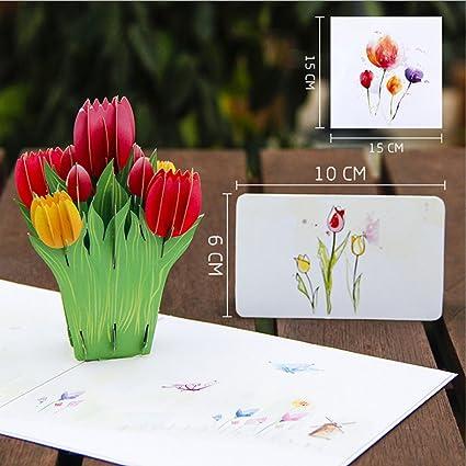 Ecmqs 3d Knallen Superior Tulipanes Flores Tarjeta De